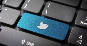 twitter key on computer
